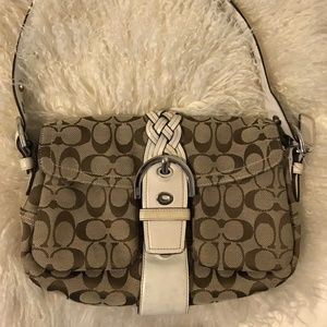 COACH Signature Brown Handbag
